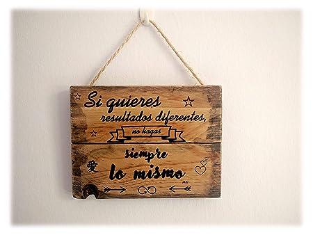 MariusCrafts Cartel Madera Decoracion hogar, Frases ...