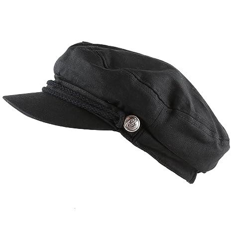 THE HAT DEPOT Black Horn Unisex Cotton Greek Fisherman s Sailor Fiddler Hat  Cap at Amazon Women s Clothing store  eb52f48caa2f