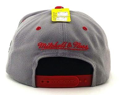 meet e73a5 84e79 Amazon.com   Chicago Bulls TOP SHELF Gray Red SNAPBACK Mitchell   Ness NBA  Hat   Clothing