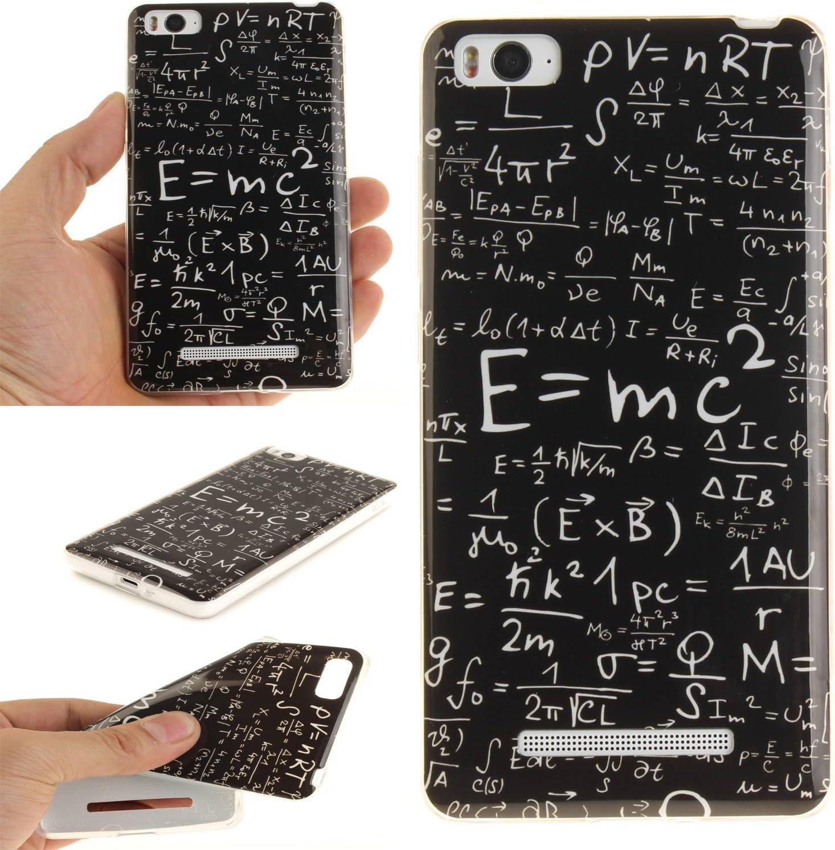 Guran® Silicone Case do Xiaomi Mi 4C Smartphone Soft TPU Gel Rubber Cover Case-Formuły fizyczne