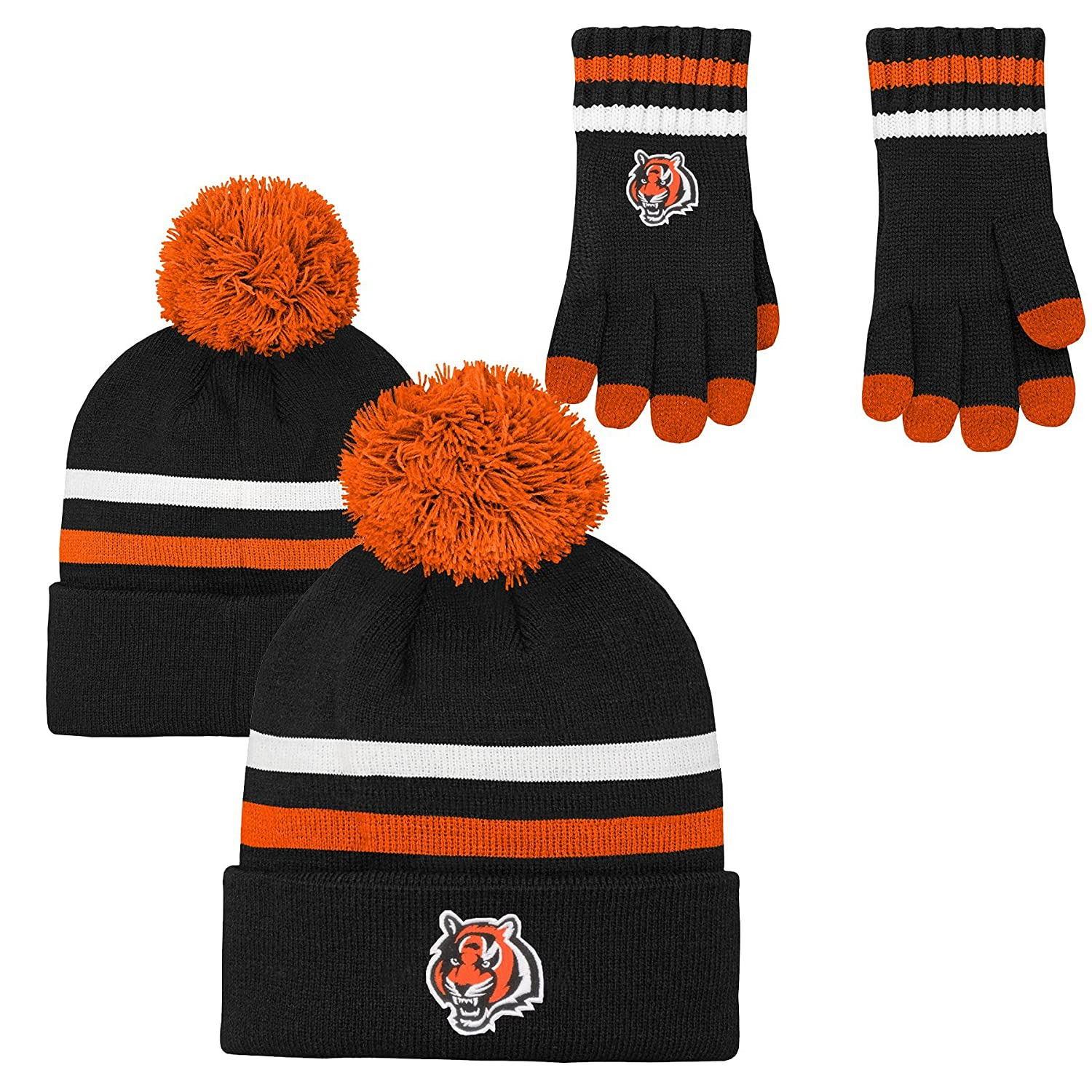 Amazon.com   Outerstuff NFL Kids   Youth Boys 2 Piece Knit Hat and Gloves  Set   Clothing 9ed6c969aa6b