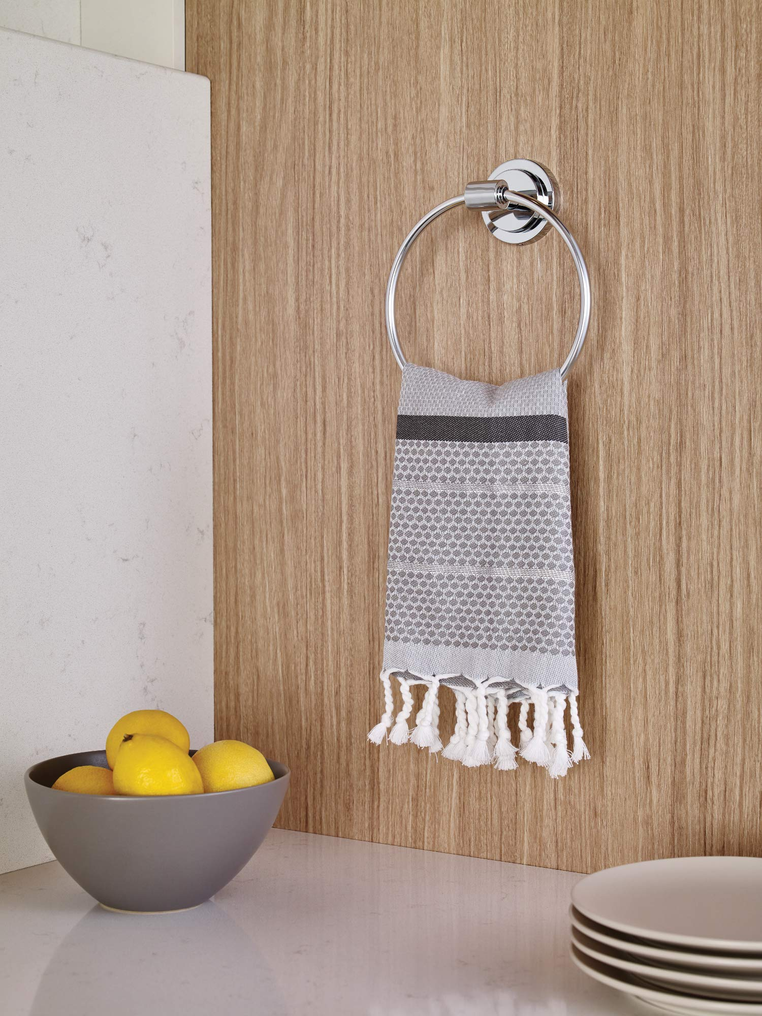 Moen DN0786CH Iso Bathroom Hand Towel Ring, Chrome by Moen