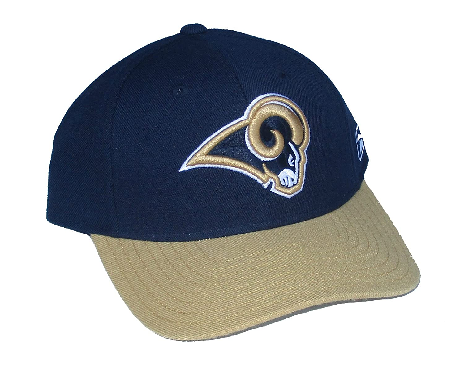 Amazon.com : Los Angeles Rams Fitted Size 7 1/4 NFL Authentic Players On-Field Sideline 2-Tone Hat Cap - Navy Blue & Gold : Sports & Outdoors