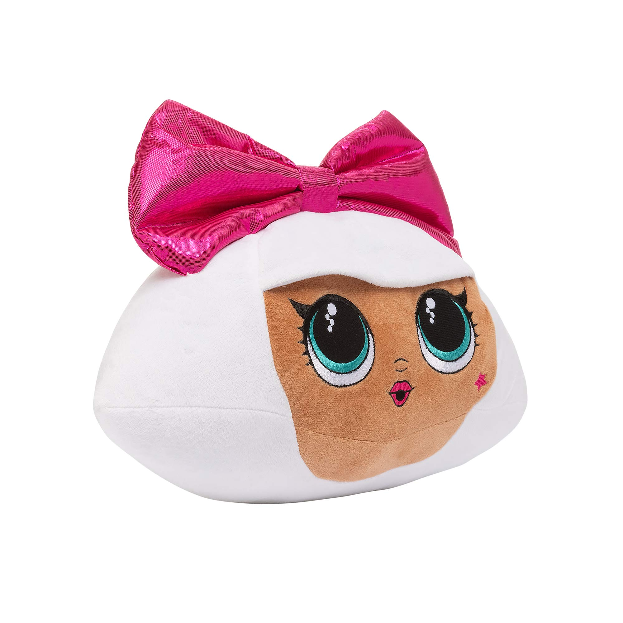MGA LOL Surprise Diva Character Plush Cuddle Pillow, White/Pink