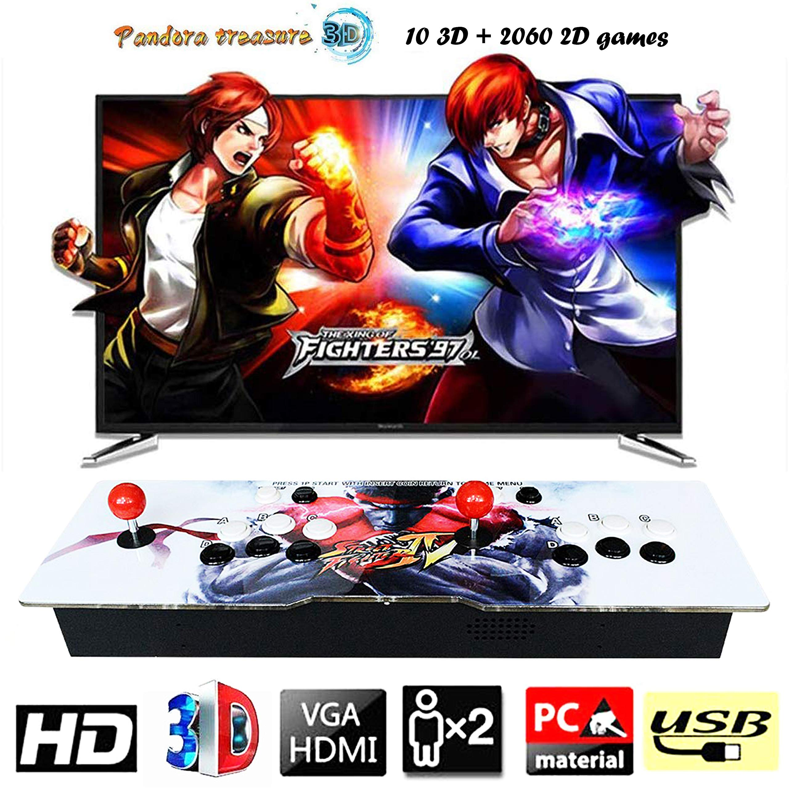 888Warehouse New! Pandora's Box 9S Arcade Console 1080P with 2070 Games in 1, Retro Video Games Double Stick Arcade Console, Supports HDMI and VGA Output for TV and PC by 888Warehouse (Image #1)