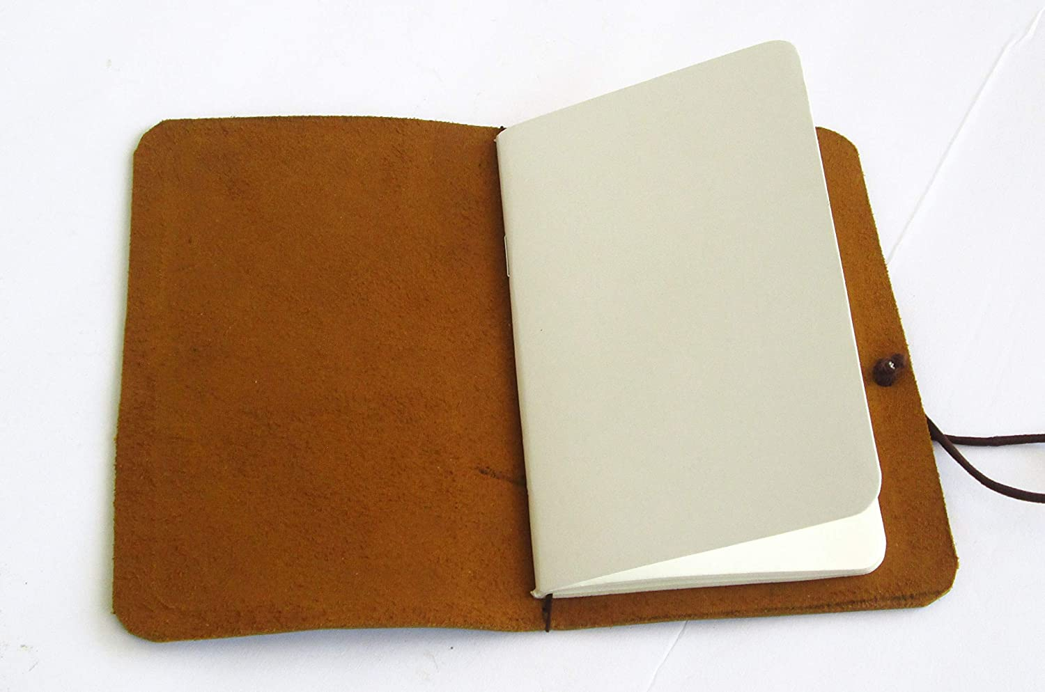 Handmade Cover Soft Leather for Moleskine Cashier or Field Notes Cover Leather Journal 3.5 x 5.5 Travelers Notebook Pocket Size | Refillable | Dark Brown)