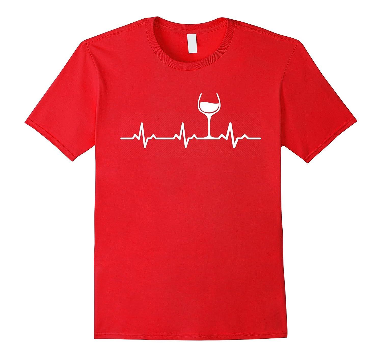 Wine Heartbeat Shirt Funny Cute Wine Glass Lover Gift tshir-CD