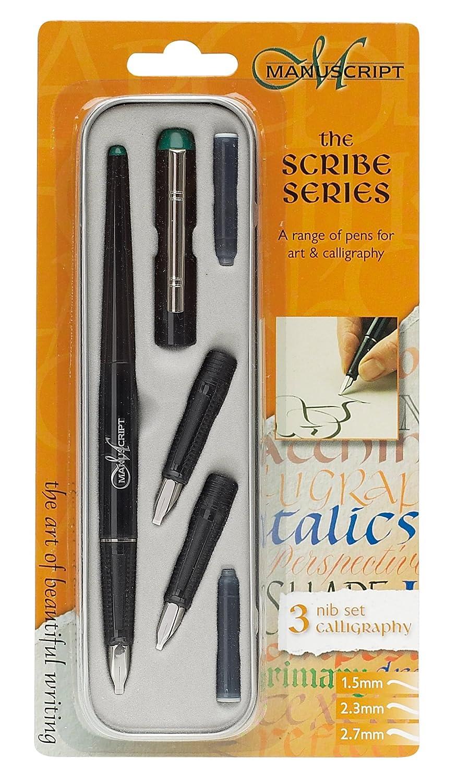 Manuscript Scribe Set de calligraphie Stylo et plume pour gauchers