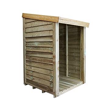 3 x 3 madera tratada a presión, cobertizo de madera LOG store, Pent techo