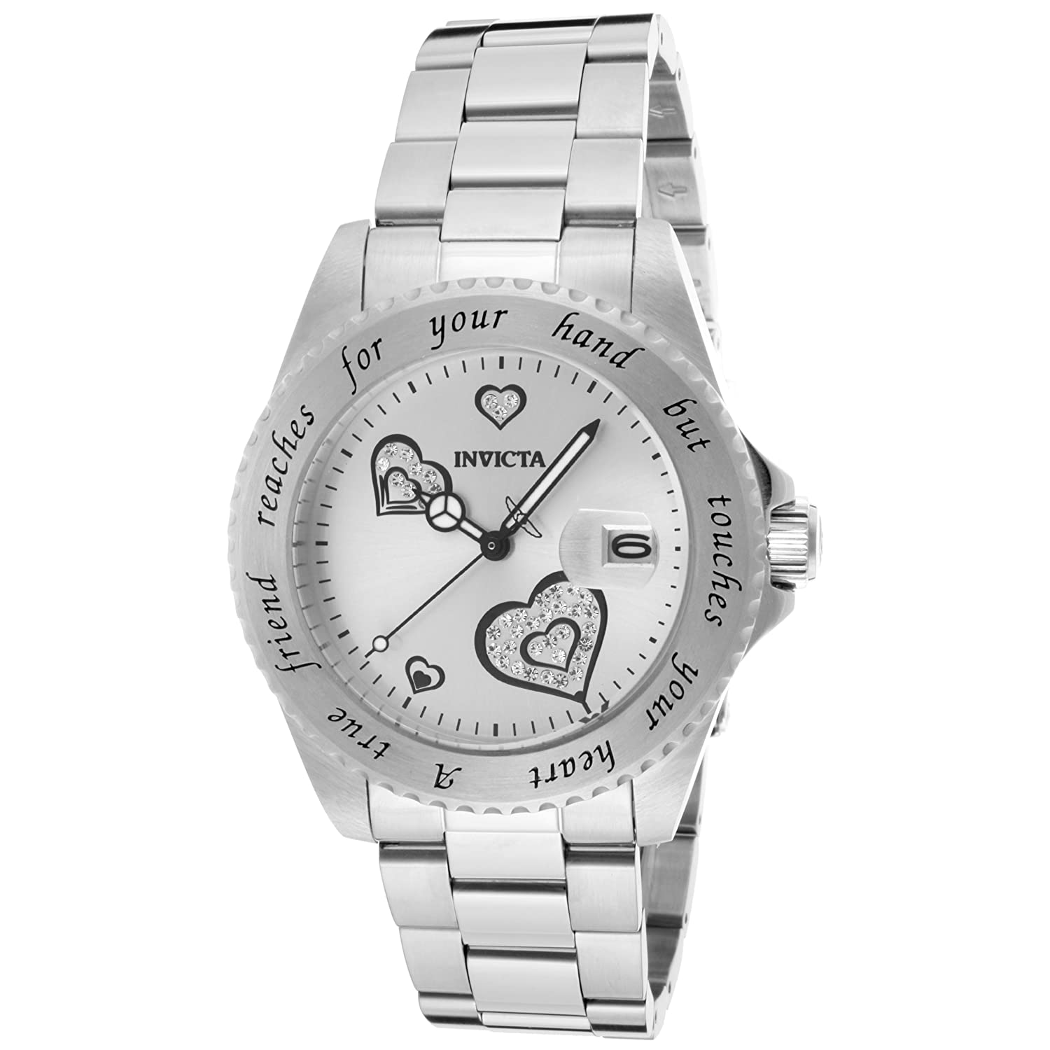 Amazon.com: Invicta Women's 14729 Angel Analog Display Japanese Quartz  Silver Watch: Invicta: Watches