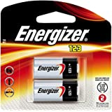 Energizer Lithium CR123 CR-123 pHOTO lITHIUM BATTERY 2Pack (Open Box)