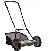 American Lawn Mower Company 1815-18 18-Inch 5-Blade Push Reel Lawn Mower, 18-Inch, 5-Blade, Black with Grass Catcher