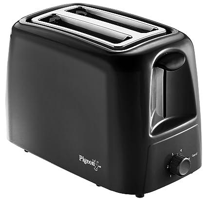 Pigeon 2-Slice Auto Pop-up Toaster Black