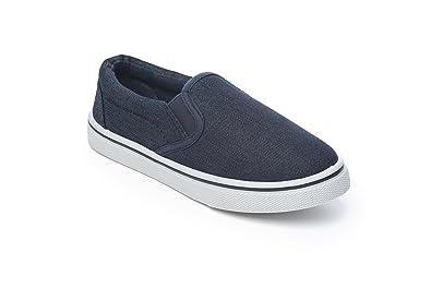 Ebbly - Mocasines de Tela para niño Azul Azul Marino: Amazon.es: Zapatos y complementos