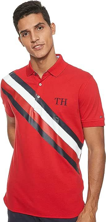 قميص بولو عادي للرجال من تومي هيلفيغر