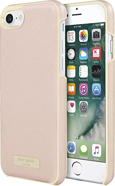promo code 6b786 35d10 Incipio Apple iPhone 7/8 Kate Spade New York Wrap Case - Saffiano Rose  Gold/Gold Logo Plate