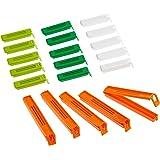 kitchen Craft 20-Piece Bag Clips, Plastic, Multi-Colour, 9 x 12 x 16 cm