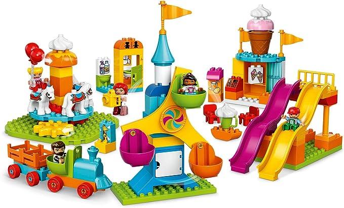 1x LEGO DUPLO GHIACCIO SFERA PIETRA ROSA BIANCO variegata 4x4 10574 4644204 98220pb01