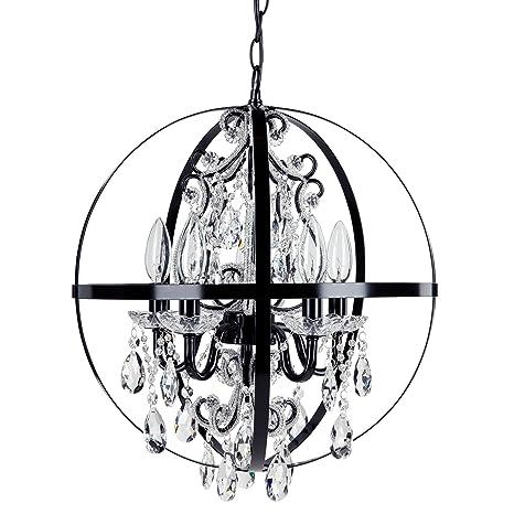 round black chandelier farmhouse luna black orb chandelier metal round sphere plugin light swag glass crystal