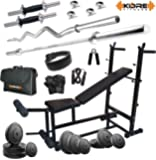Kore 70kg Combo DD26 Home Gym with 6-in-1 Multipurpose Bench