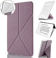 Capa Kindle 10ª Geração, WB, Auto Hibernação Sensor Magnético Origami Silicone Flexível, Estilo Tecido, Lilás