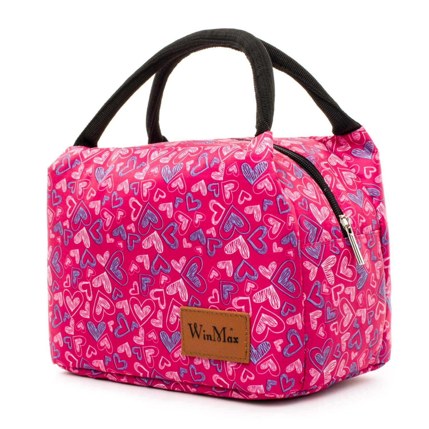 Portable Insulated Lunch Bag for Women and Kids Reusable Tote Cooler Bag for Picnic Beach Camping by Winmax (Purple)
