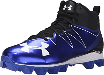 Under Armour Men's UA Hammer Mid RM Black/Team Royal Sneaker 9 D (M