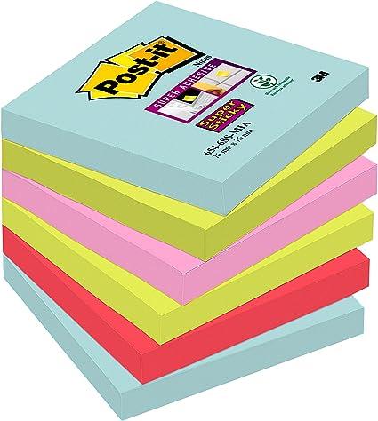 Post-It 70005291227 - Post-it Super Sticky - Pack de 6 blocs notas ...