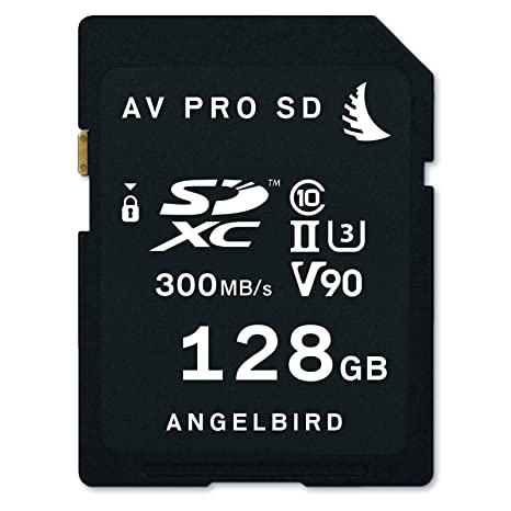 Angelbird Technologies AVP128SD Memoria Flash 128 GB SDXC Clase 10 UHS-II - Tarjeta de Memoria (128 GB, SDXC, Clase 10, UHS-II, 300 MB/s, Negro)