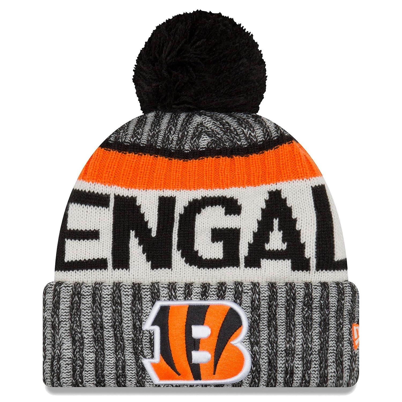Amazon.com   New Era Cincinnati Bengals NFL Sideline On Field 2017 Sport Knit  Beanie Beany   Sports   Outdoors b45093931