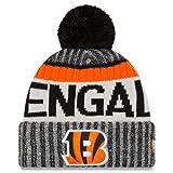 New Era NFL Onfield Cincinnati Bengals Bobble Knit Beanie Hat