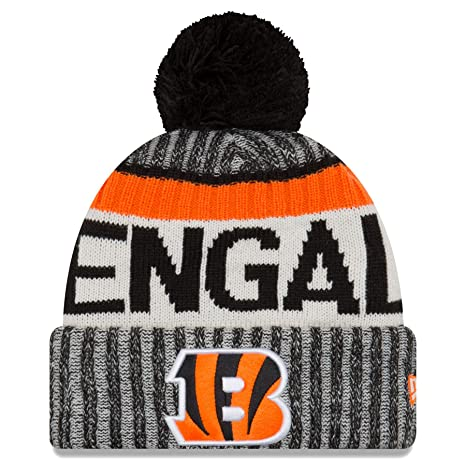 d6ad57382 New Era Cincinnati Bengals NFL Sideline On Field 2017 Sport Knit Beanie  Beany