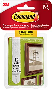 12-Pairs Command Picture & Frame Hanging Strips Pack