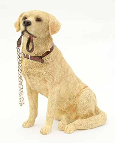 Dog Ornaments Sitting GOLDEN LABRADOR From The Walkies Range Collectable  Dogs Leonardo
