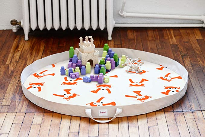 3 Sprouts Play Mat Bag Large Portable Floor Activity Rug For Baby Storage Fox Amazon Ca Baby