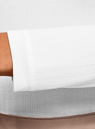 oodji Ultra Mujer Jersey Texturizado con Cuello Redondo