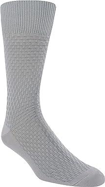 STACY ADAMS Mens Gemstone Basketweave Crew Dress Sock (1 Pair)