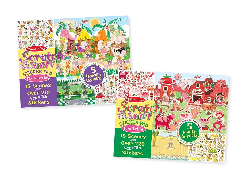 Amazon.com: Melissa & Doug Scratch-and-Sniff Sticker Pads Set: Toys ...