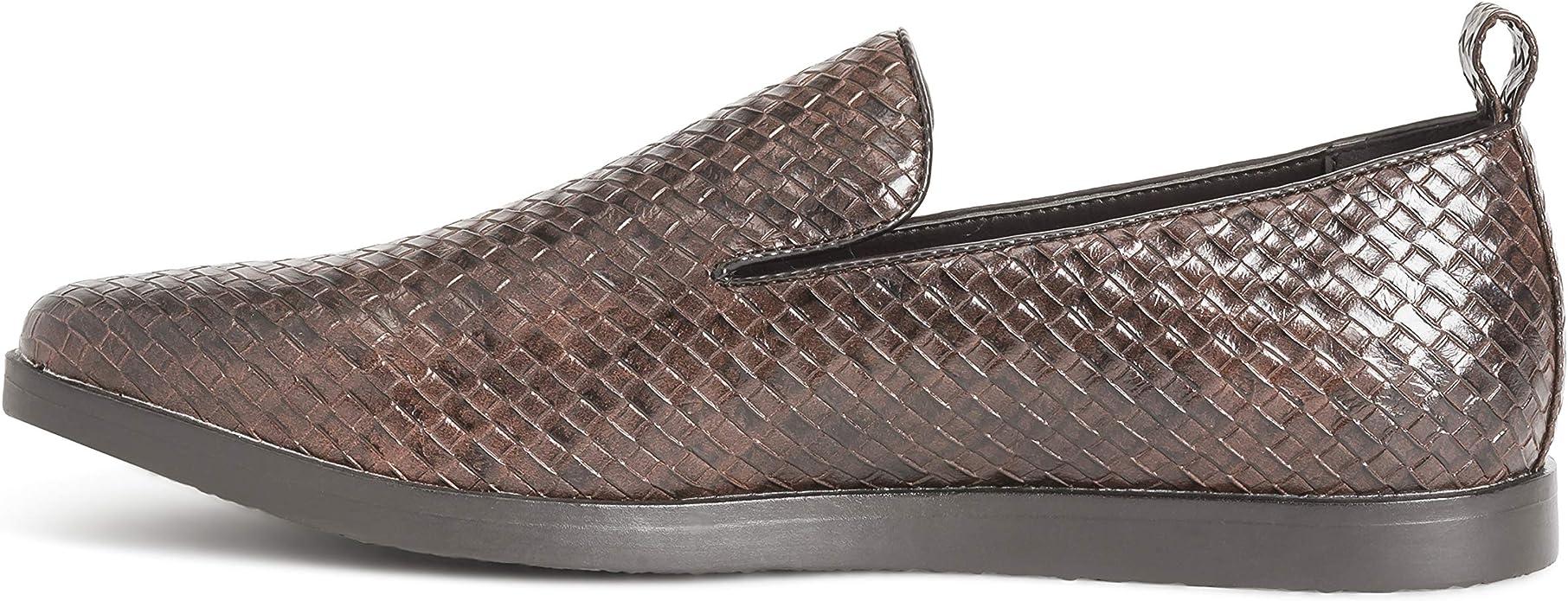 Amazon.com: Queensbery Kingsley - Zapatos planos de piel ...