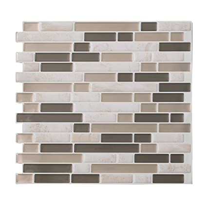 Amazon Com Tack Tile Peel Stick Vinyl Backsplash Small Mosaic