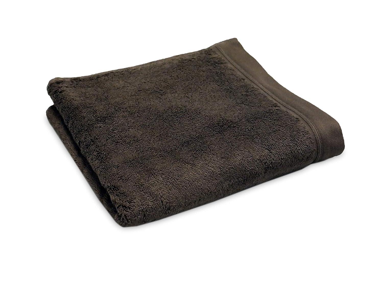 Serviette de Bain 50x100cm Chocolat 100/% Coton peign/é Haut de Gamme Pr/éface