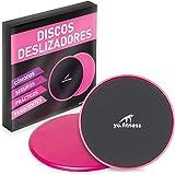 Yo.Fitness Sliders | Deslizadores para Ejercicio | Entrena Abdomen, Pierna, Brazo | Discos de Entrenamiento | Incluye Manual
