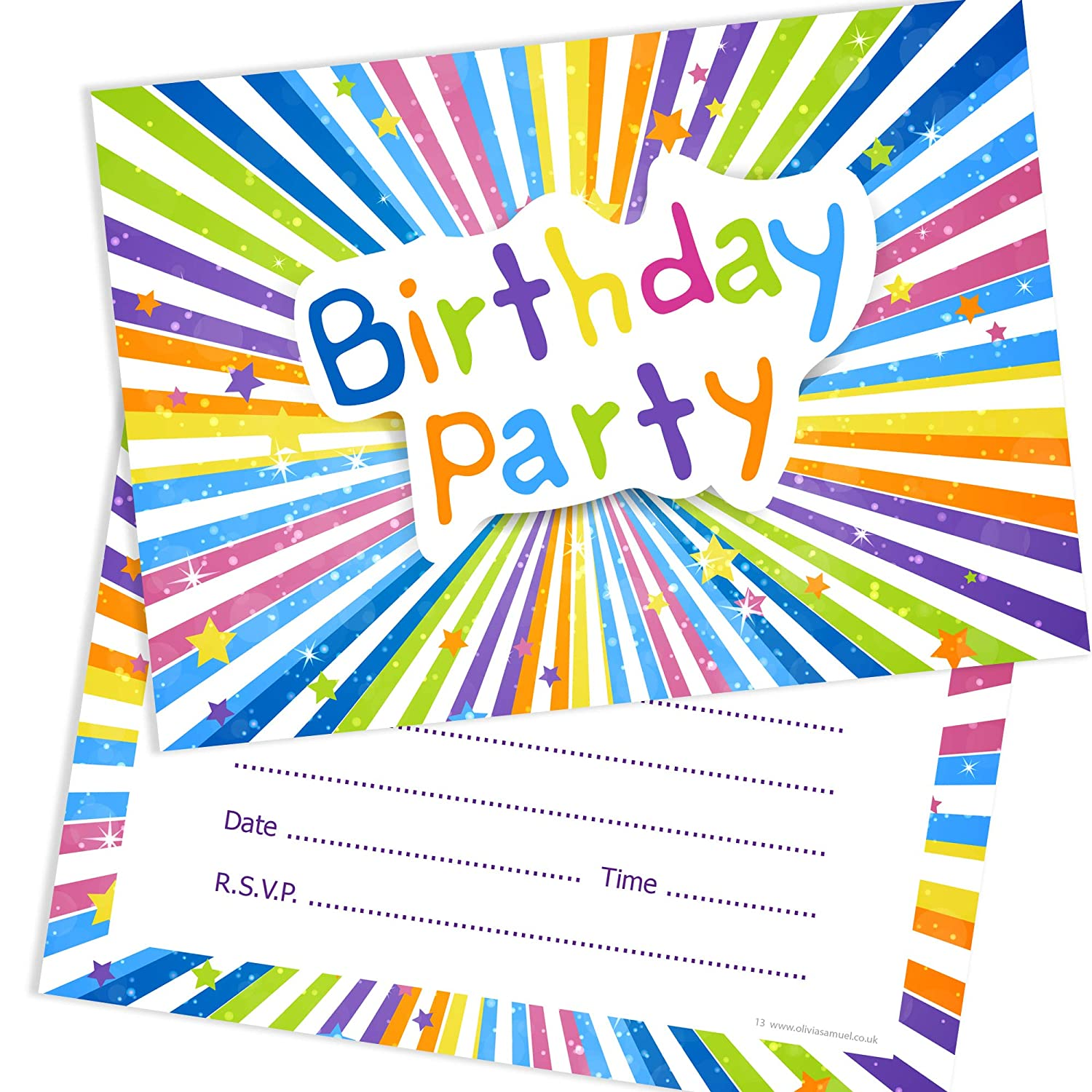 Olivia Samuel Childrens Birthday Party Invitations