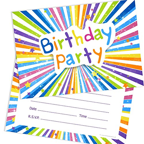 olivia samuel childrens birthday party invitations kids ready to write party invites a6 postcard
