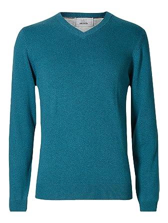 Mens Ex Marks Ms Spencer Jumper Sweater 100 Cotton Crew V Neck
