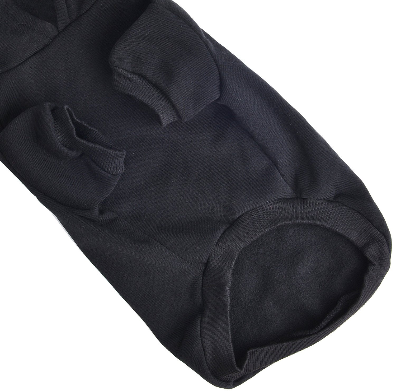 BINGPET Blank Basic Cotton//Polyester Pet Dog Sweatshirt Hoodie Black Extra large BA1002/_BLACK/_XL/_FF