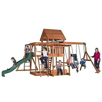 Amazoncom Backyard Discovery Monticello All Cedar Wood Playset