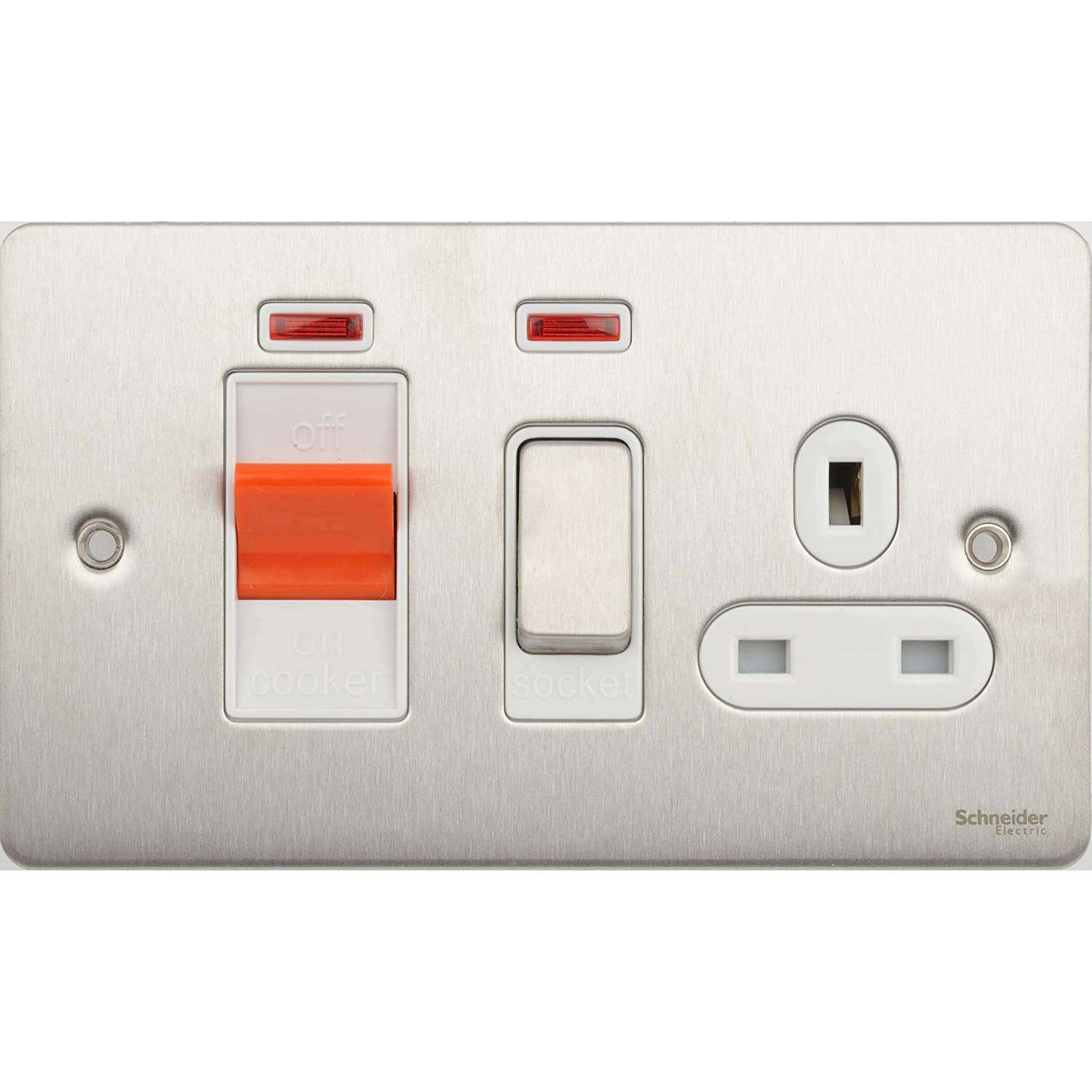13A SOCKET//NEON GET ULTIMATE COLLECTION FLAT PLATE 45A DP COOKER CONTROL UNIT