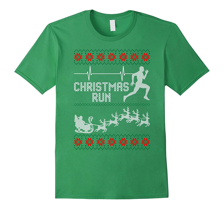 Christmas Run Ugly Sweater Running T-shirt-CL – Colamaga