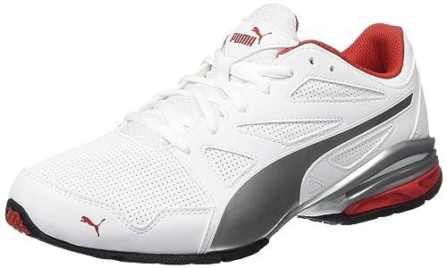 30a277249b1 Puma Men s Tazon Modern Sl Fm White-High Risk Red Running Shoes - 6 ...